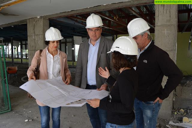 El Cabildo avanza en las obras de remodelación de la primera planta de la Residencia de Pensionistas