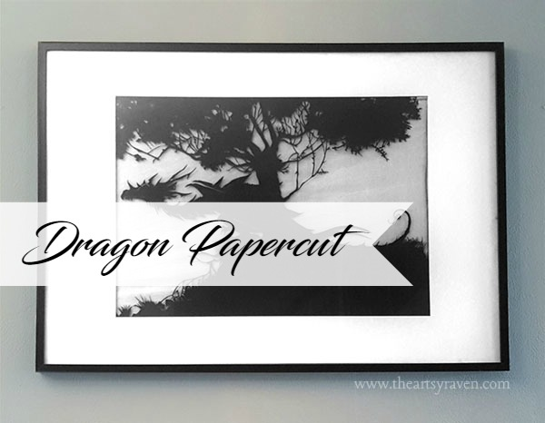 Dragon papercut by TheArtsyRaven
