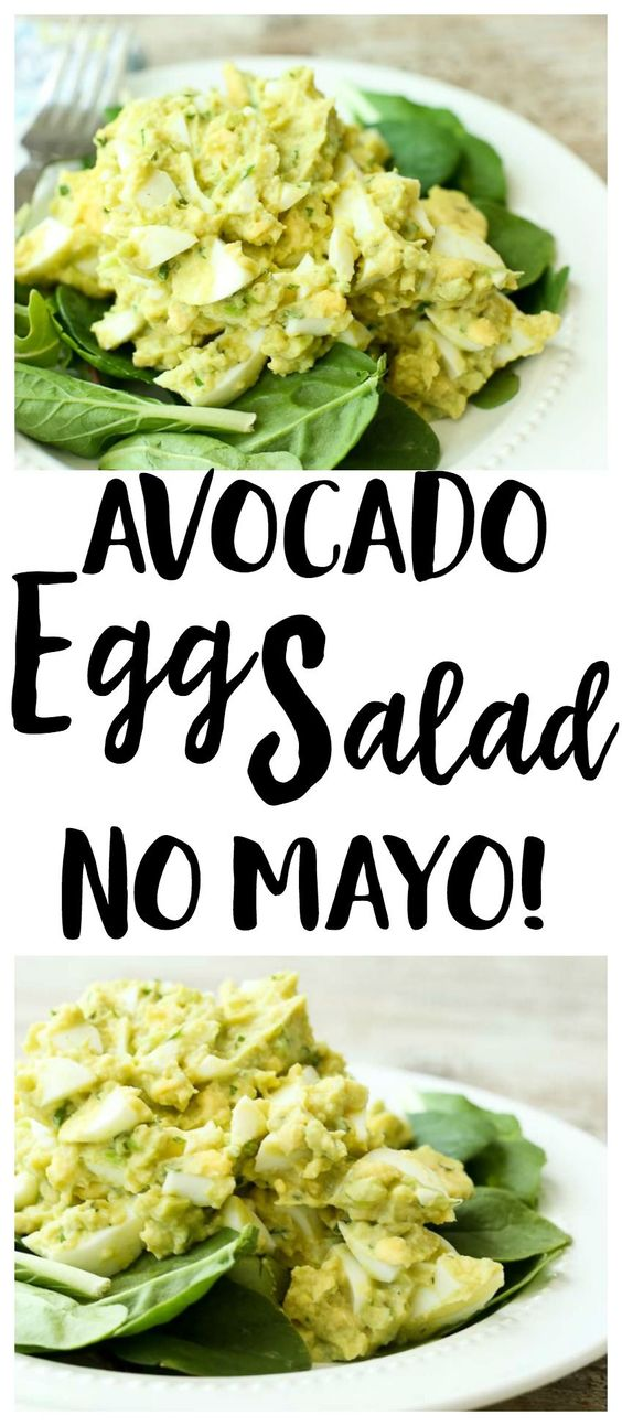 avocado egg salad (no mayo)