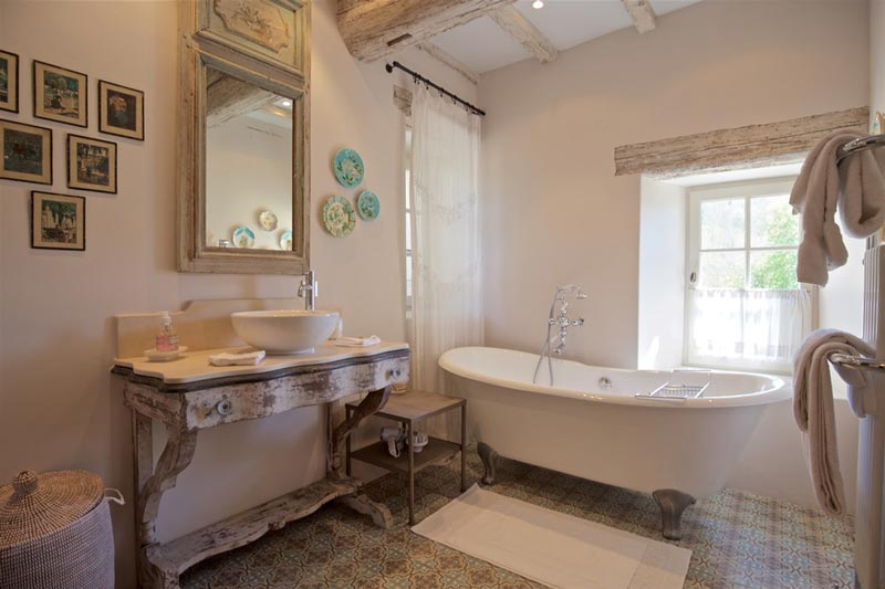 bagno coutry chic