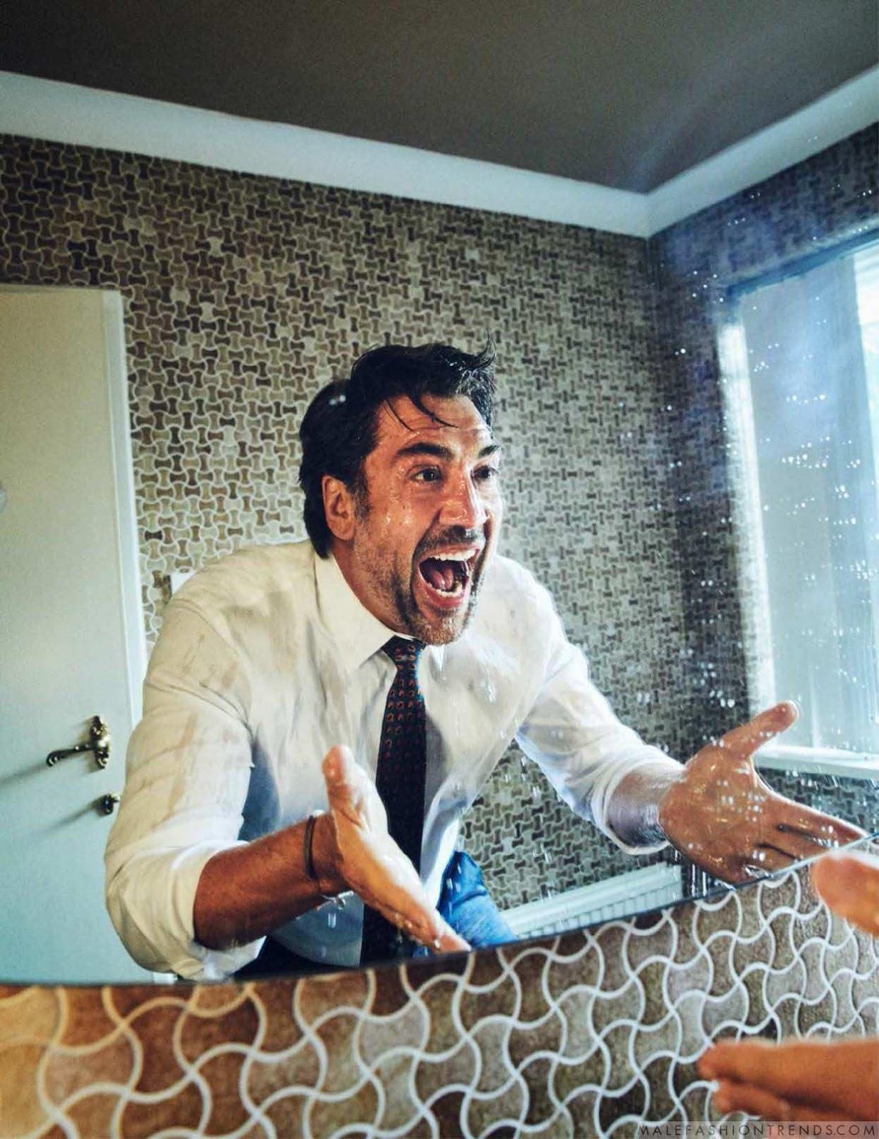 Javier Bardem para Esquire UK por Simon Emmett
