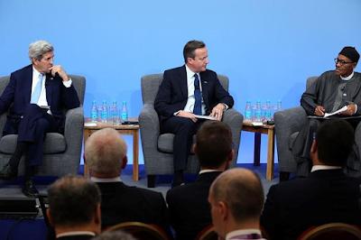 BUHARI AND DAVID CAMERON AT THE CORRUPTION SUMMIT IN UK