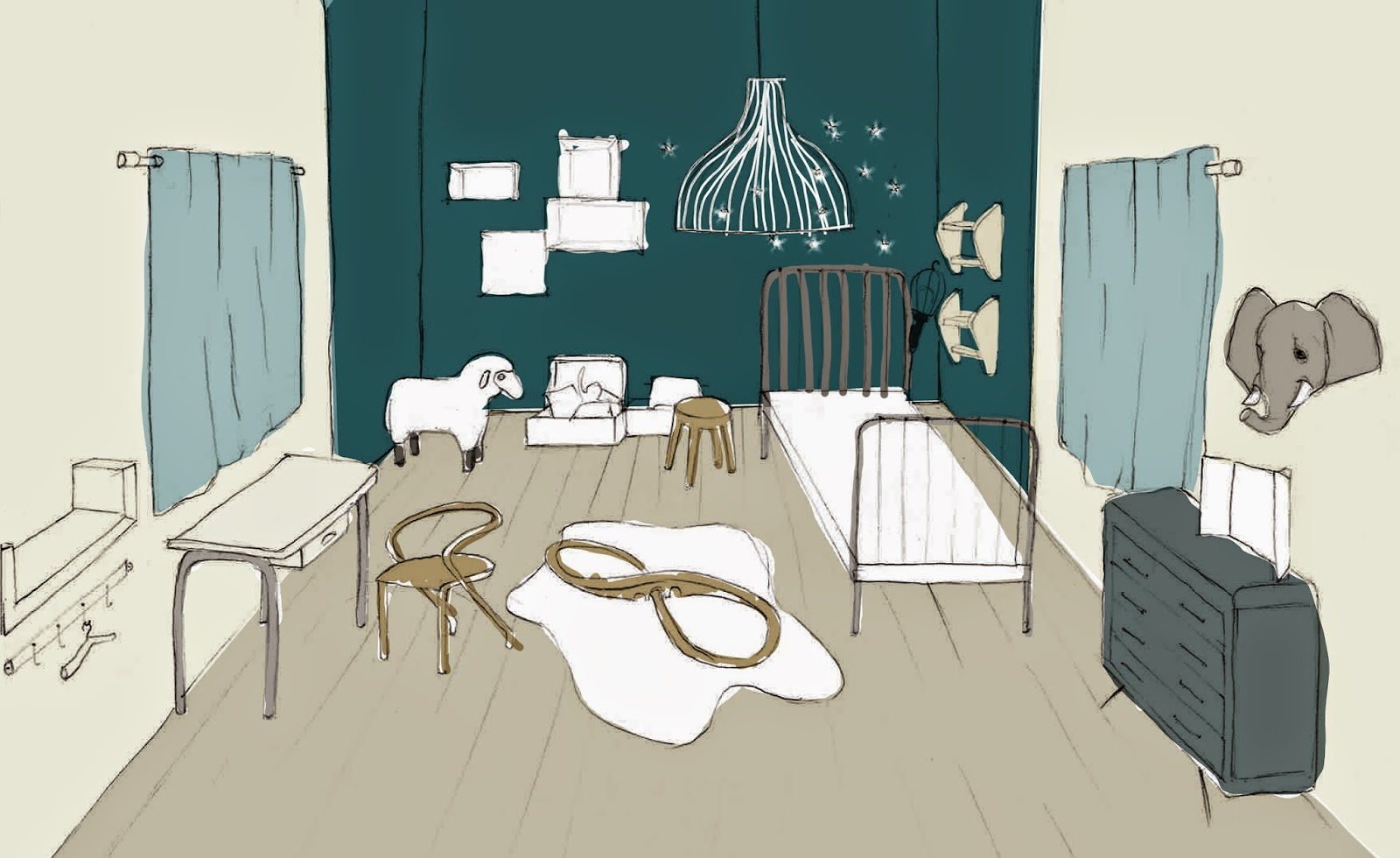 marie paillette baby inspiration pour la chambre de b b. Black Bedroom Furniture Sets. Home Design Ideas