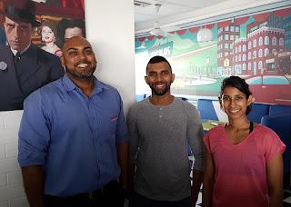Hisham Cader, Owner of The Sandwich Factory with Isuru Fonseka and Natasha Amarasekara, Founders of Fit.lk