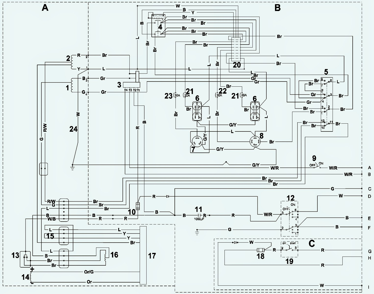 generator wiring diagrams wacker