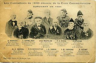 Jean-Joseph Ronchesne (1804-1905) bovenste rij rechts