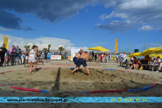 Πανελλήνιο πρωτάθλημα πάλης στην άμμο. Κατερίνη. (ΒΙΝΤΕΟ)