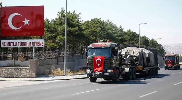 Suriye sınırına zırhlı araç sevkiyatı.