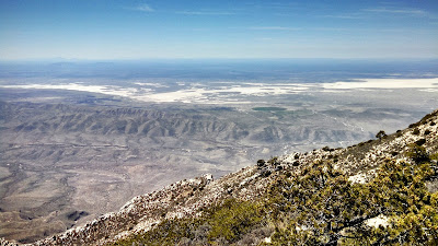 View of the Salt Basin west of the Guadalupe Mountain Peak.
