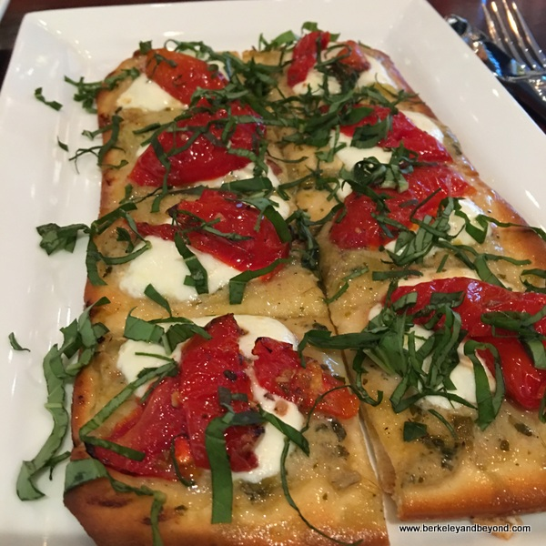 artichoke-caper flatbread at We Olive & Wine Bar in Los Gatos, California