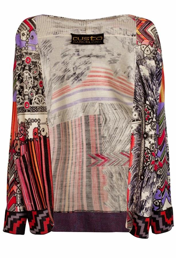 Cardigan de lana llamado Kimono Stripes de Custo Barcelona