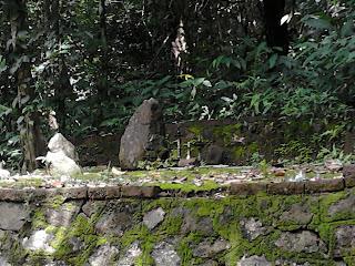Idol at Vazhvanthol Waterfalls