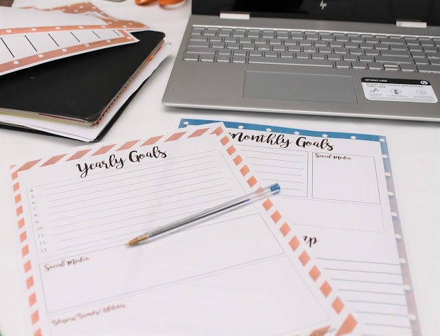 Blog Planner Printables 2018 - FREE