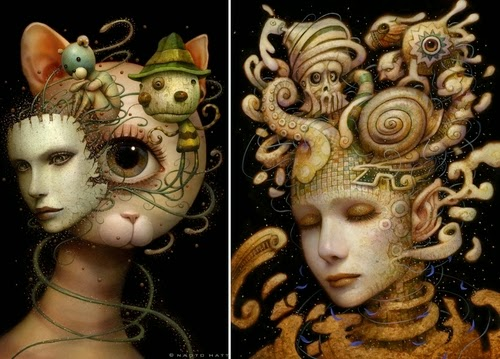 00-Naoto-Hattori-Dream-or-Nightmare-Surreal-Paintings-www-designstack-co