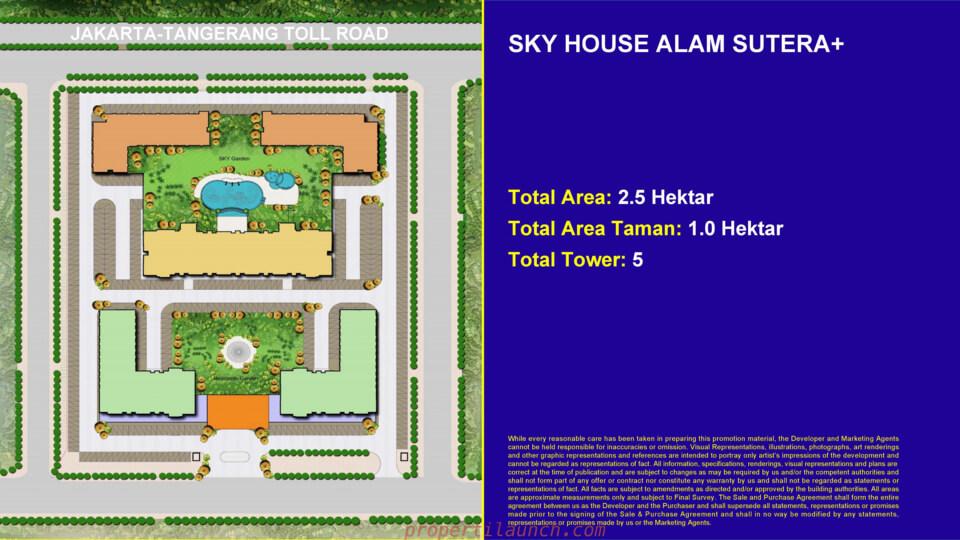 Blok Plan Sky House Alam Sutera