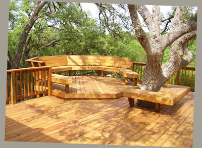 Amazing Wooden Patio And Deck Ideas For Backyard With Deck Forest Area Photo 003