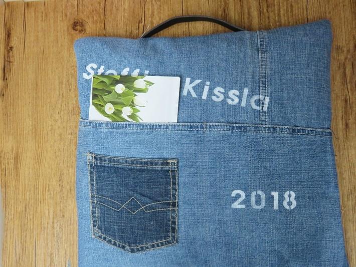 Lesekissen aus Jeans - DIY vonKarin