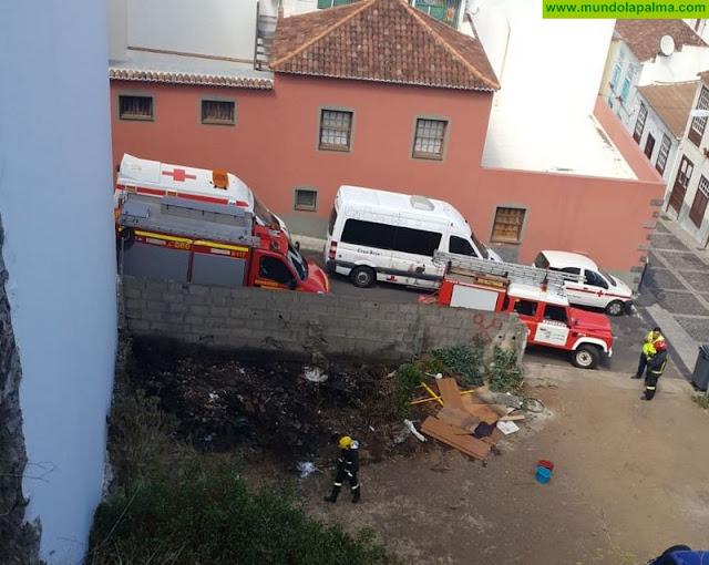 Incendio en un solar de Santa Cruz de La Palma