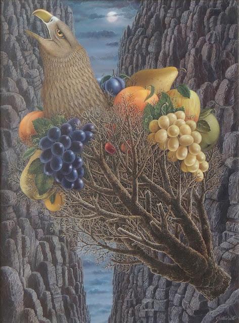 Gervasio Gallardo pintura cuadro surrealismo pájaro