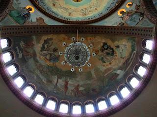 Pinturas numa das Cúpulas da Catedral Ortodoxa de São Paulo