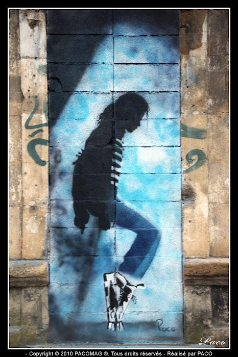 Street art faubourg du Menil Sedan Michael Jackson fini
