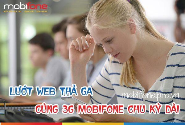 Đăng ký các gói cước 3G Mobifone chu kỳ dài