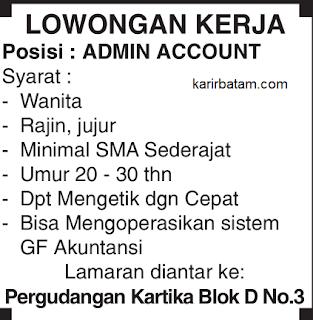 Lowongan Kerja Admin Account