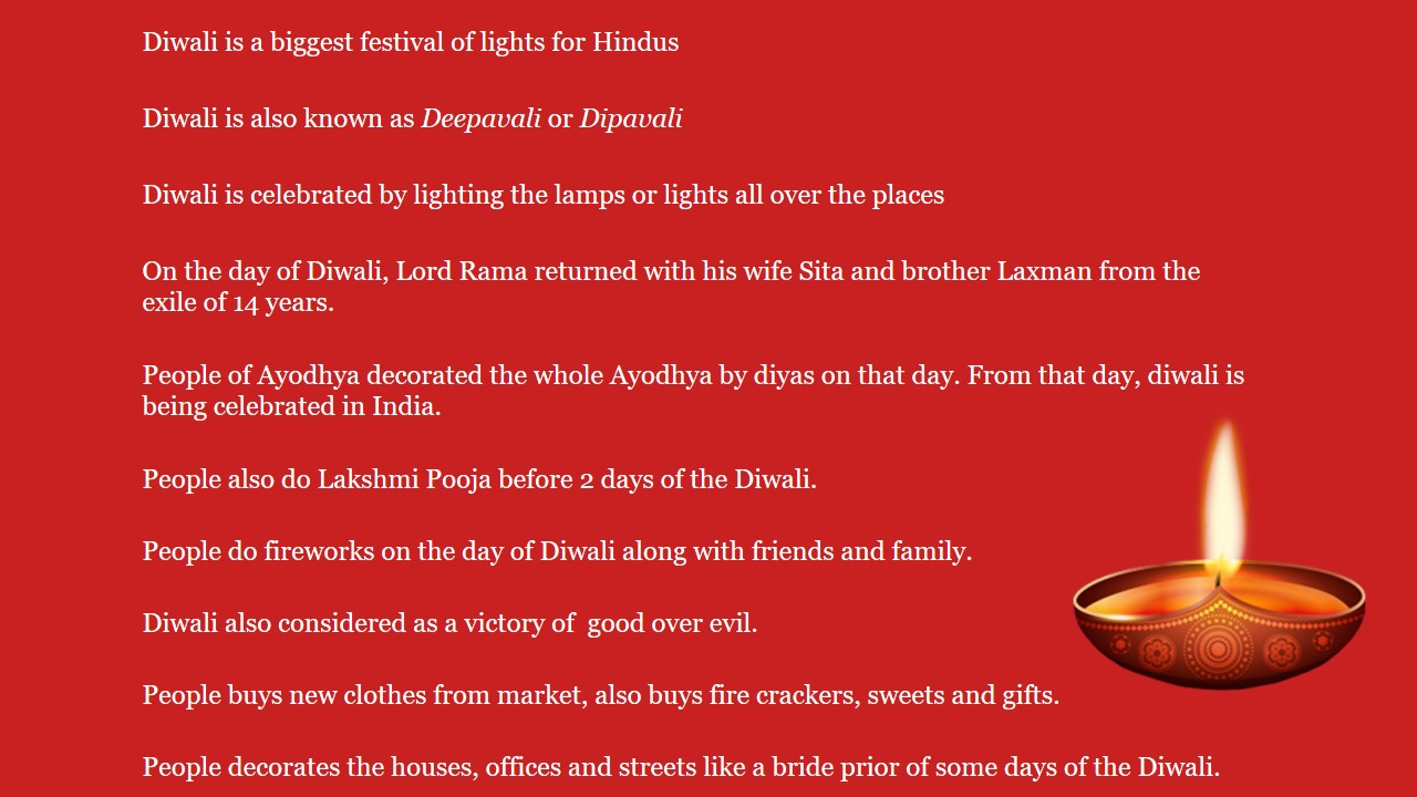 Paragraphs on Diwali