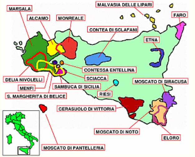 Сицилийское вино. Сицилийские сорта винограда. Neonila Siles