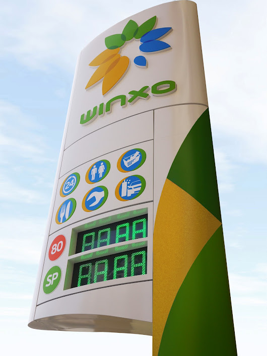 Roadside Retail: A dramatic, modern forecourt design that places the Moroccan oil company Winxo in an international context