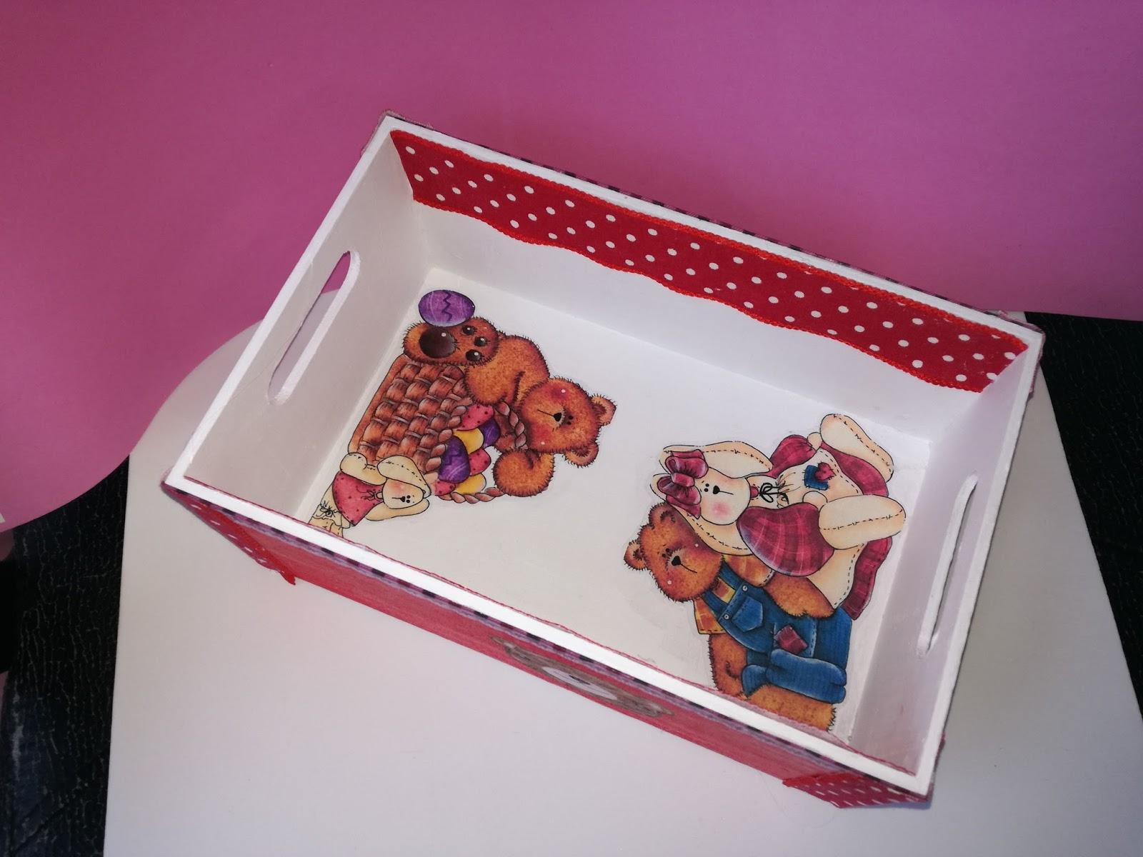 El rincon de angela como decorar una caja de madera - Cajitas de madera para decorar ...