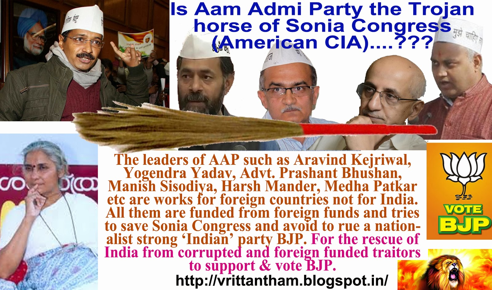 BHARATH VOICE: Is Aam Admi Party the Trojan horse of Sonia