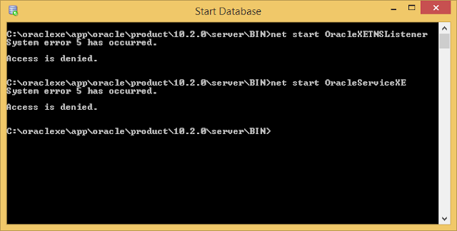 Oracle directory access denied