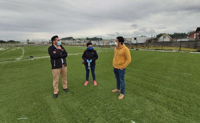 Seremi del Deporte visitó obras de conservación de recintos deportivos