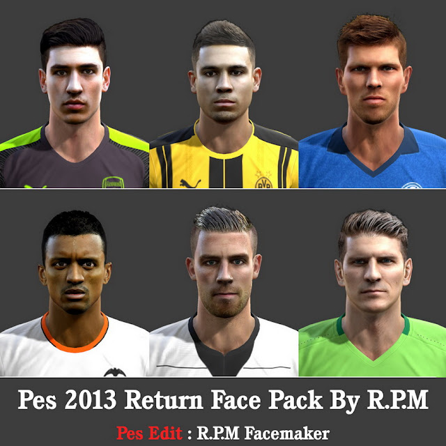 Ultigamerz Pes 2010 Pes 2011 Face: Ultigamerz: PES 2013 Return Face-Pack