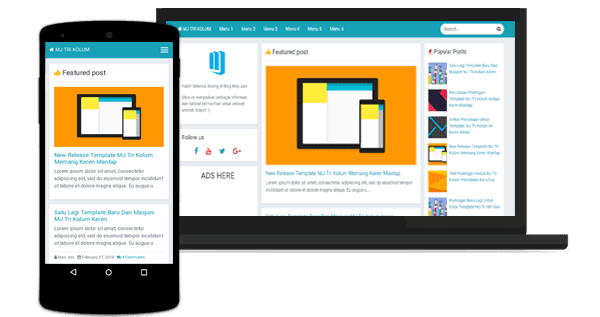 MJ Tri Kolum Full Responsive Blogger Templates