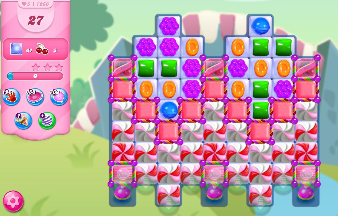 Candy Crush Saga level 7256
