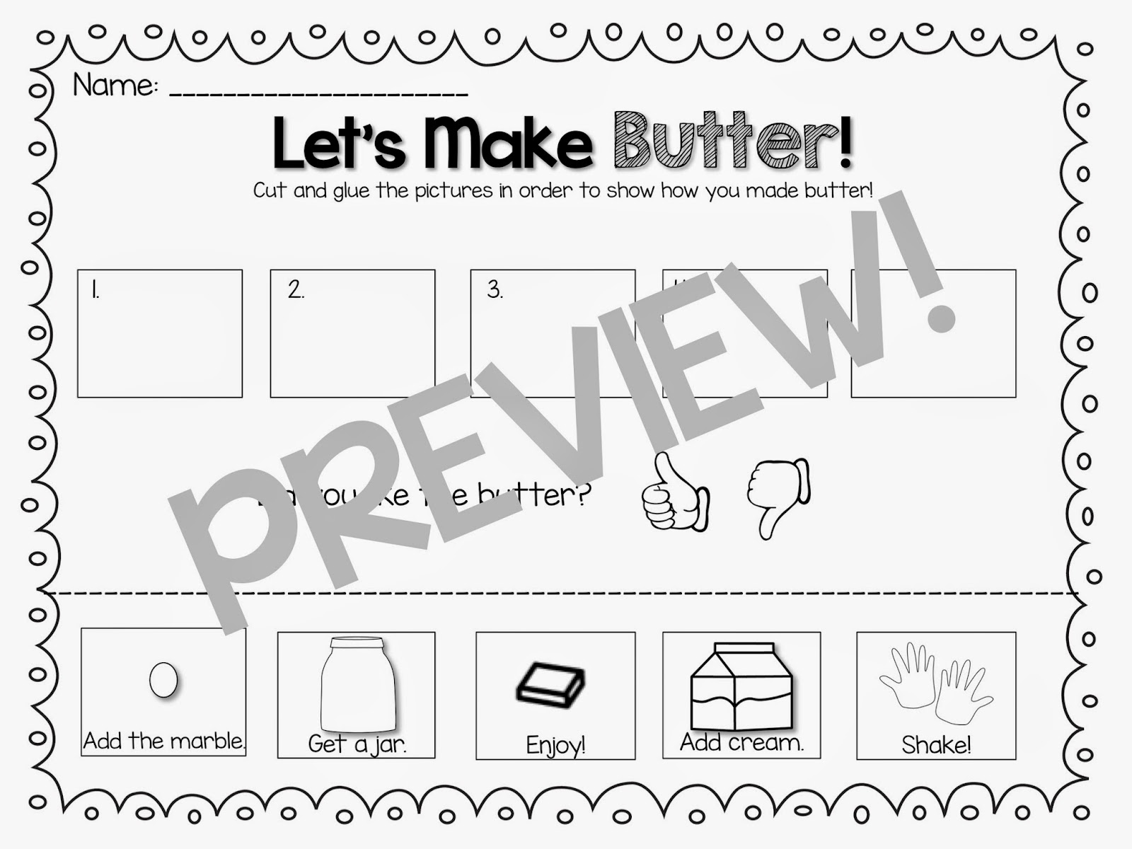 The Primary Pack Let S Make Butter Class Activity Amp Freebie