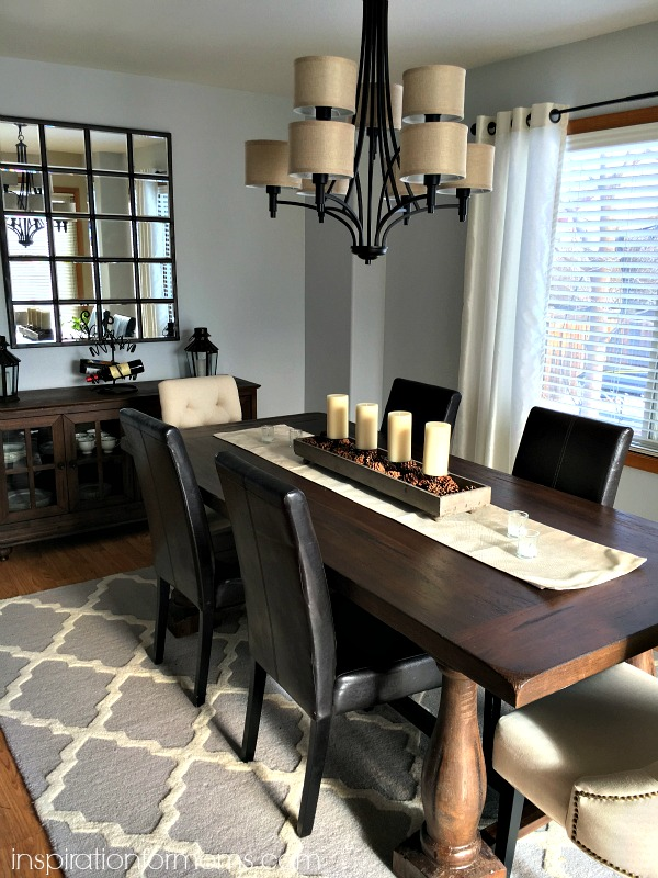 Rustic dining room makeover