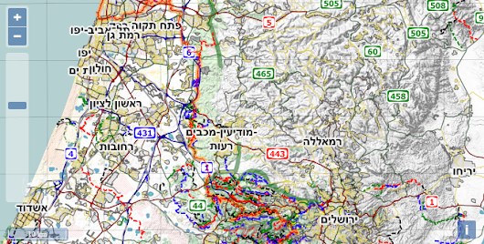 Israel National Trail Offline Maps