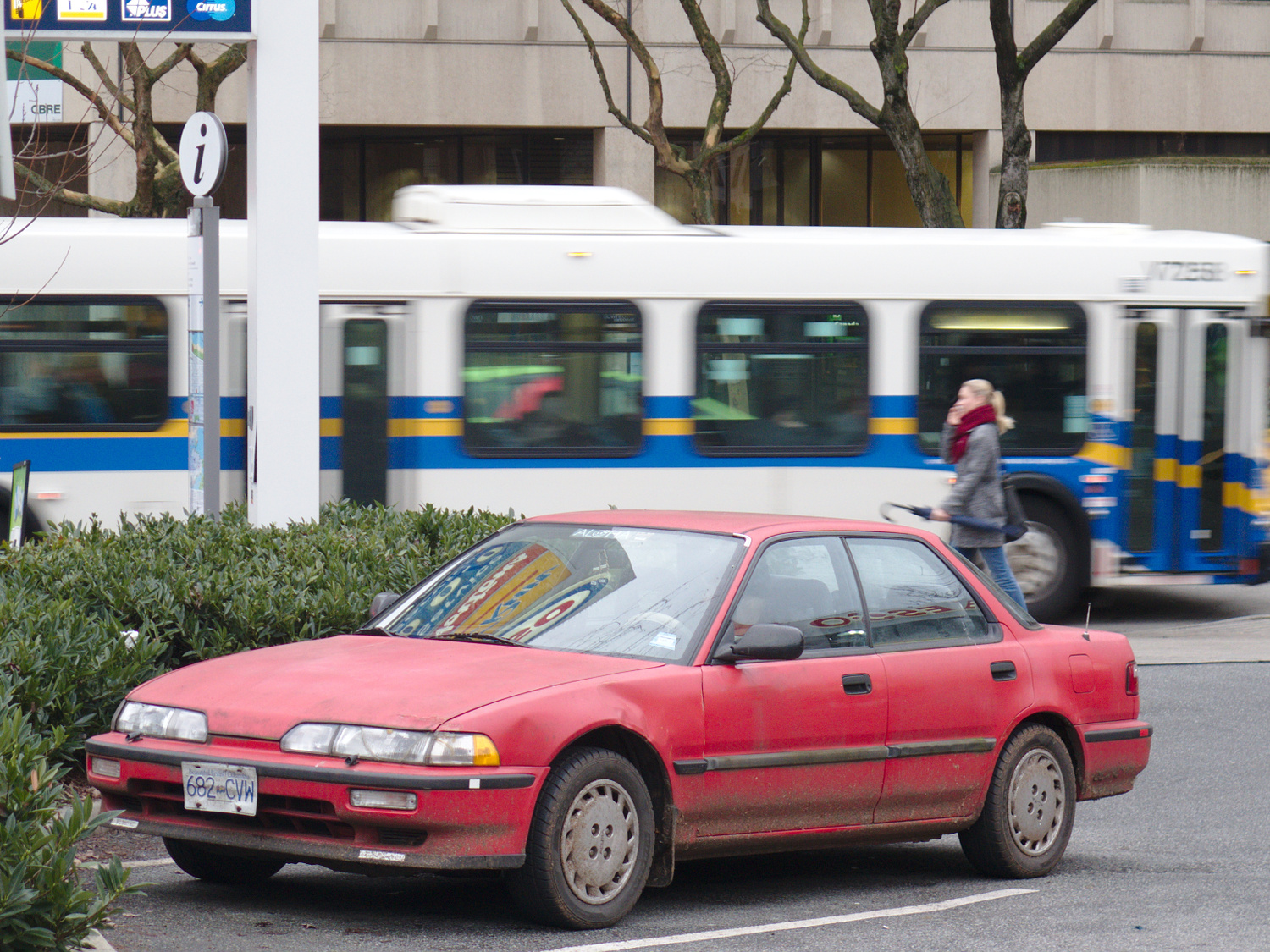 Old Parked Cars Vancouver: 1990 Acura Integra 4dr