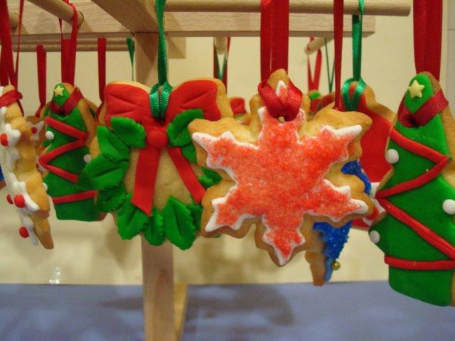 galletas de adorno para arboles de navidad
