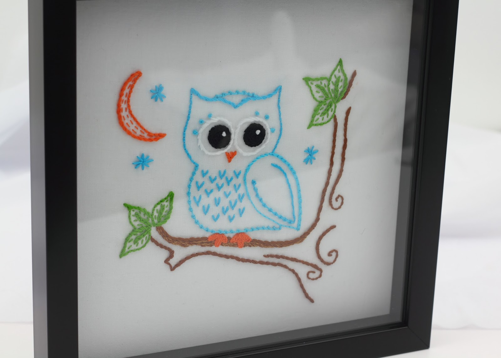 Big b owl embroidery pattern i framed this one up in a shadowbox frame i am very pleased with the result bankloansurffo Image collections