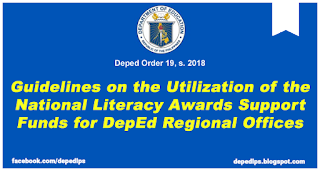 Guidelines on the Utilization of the National Literacy Awards Support Funds for DepEd Regional Offices