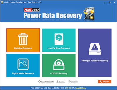 MiniTool Power DATA Recovery undelete tool
