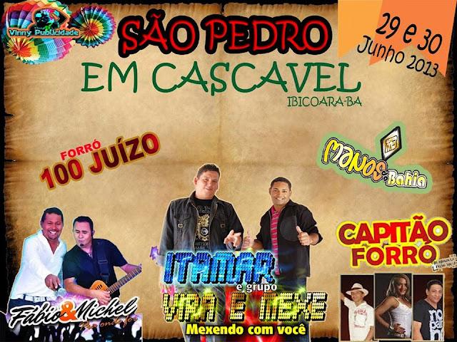 """São Pedro Cascavel Ibicoara """"29/06/2013"""""""