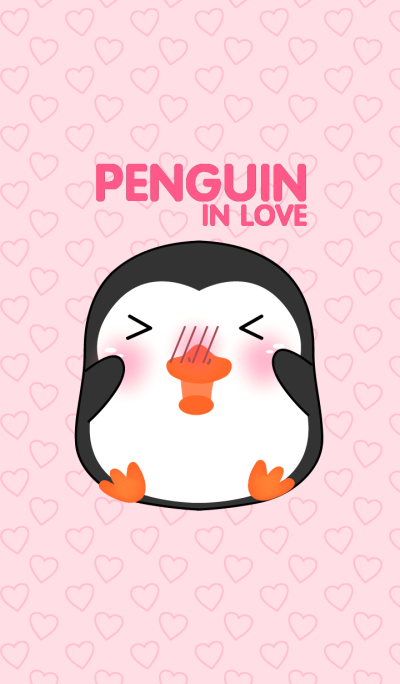 Cute Penguin In love Theme