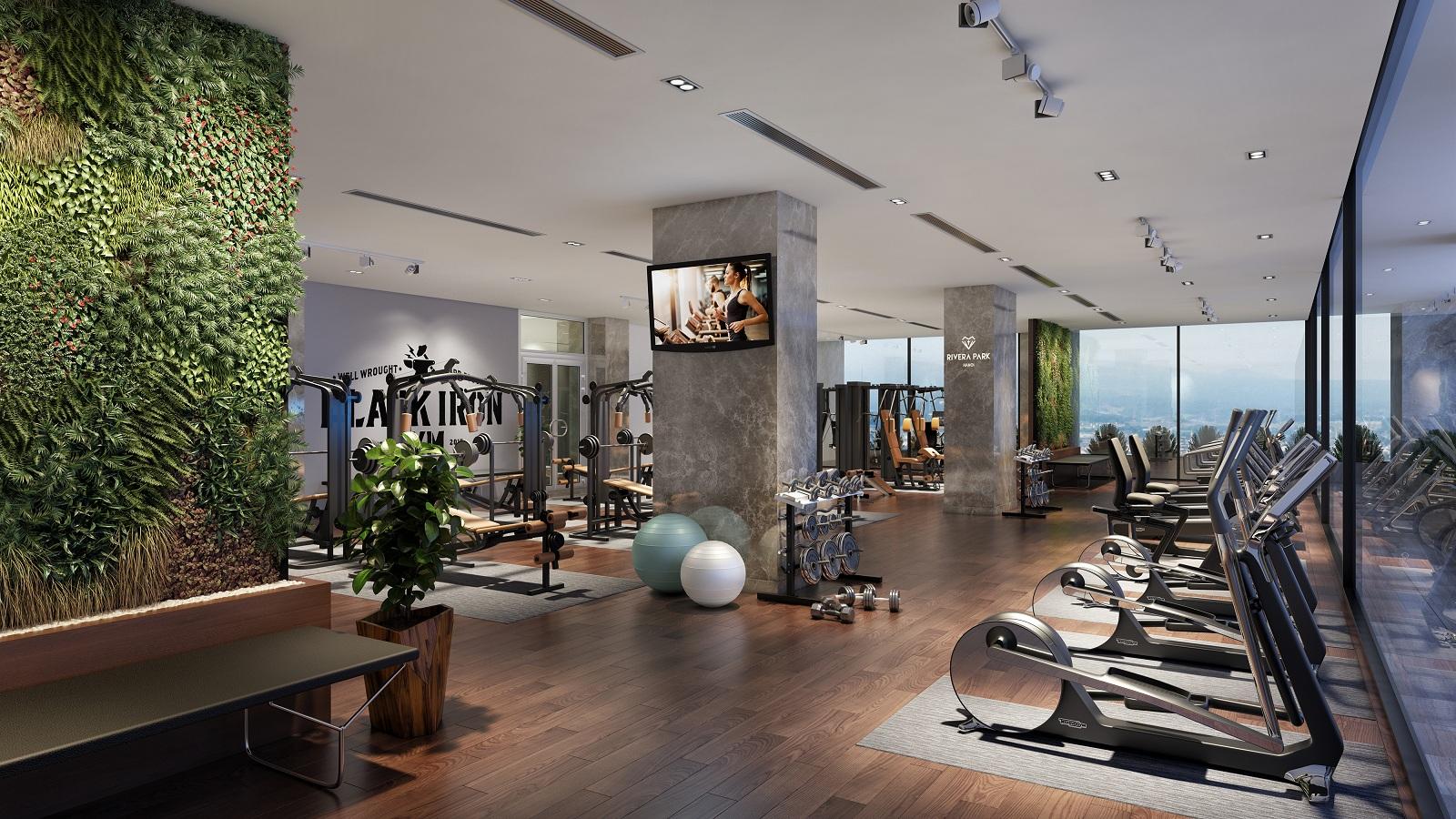 Phòng tập Gym tại Rivera Park
