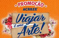Promoção Acrilex 'Viajar é uma arte' www.viajareumaarte.com.br