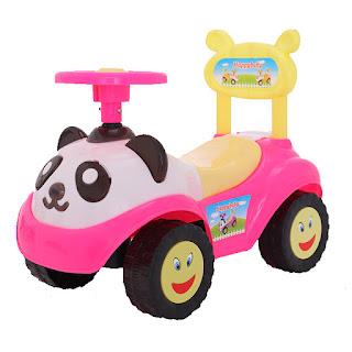 Tmall 0633 Panda Cartoon Ride On Car Pink